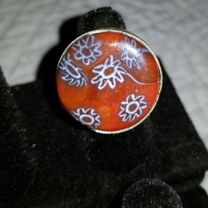 Jewelry - Dichroic Glass Sterling Silver Ring Size 7.5